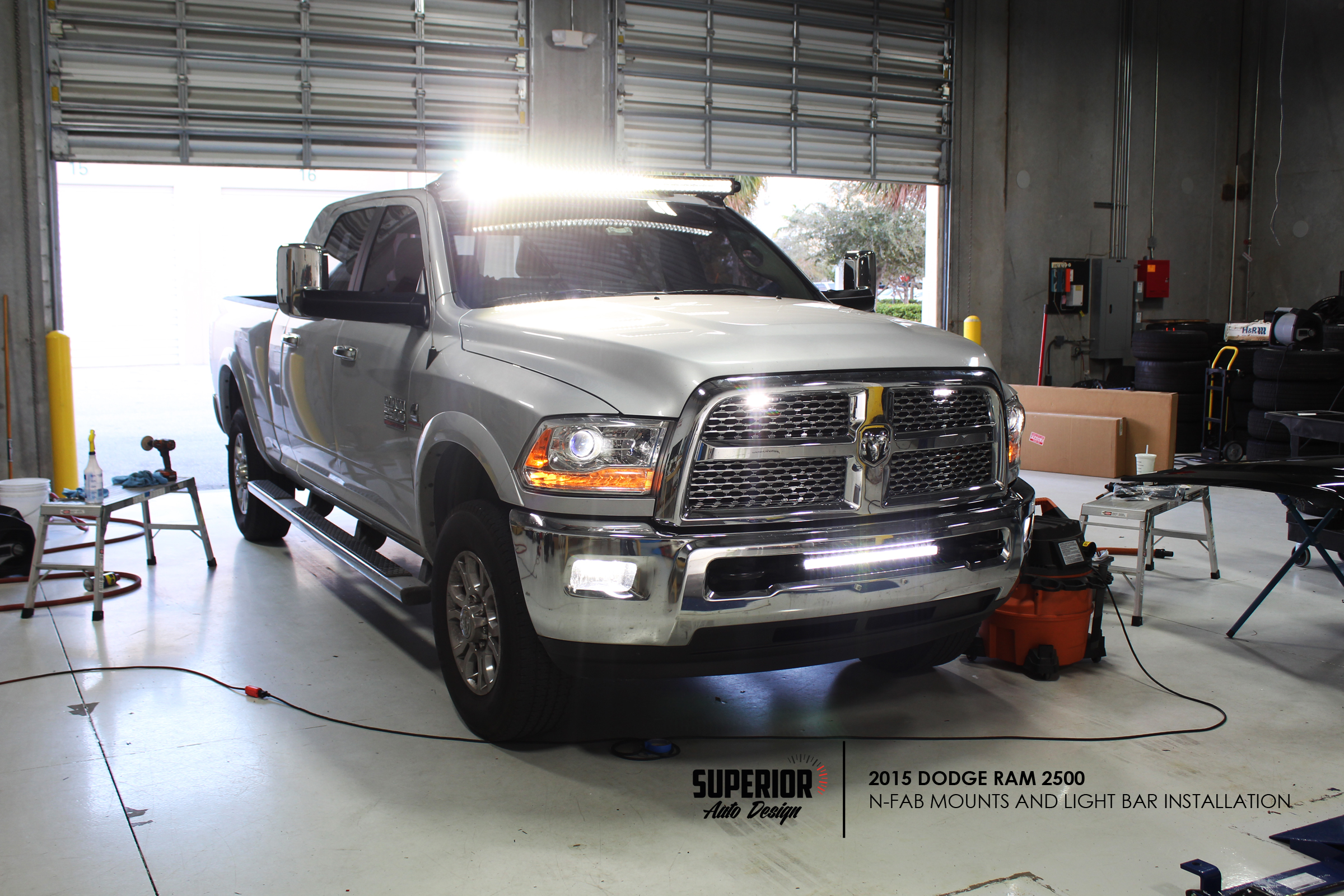 RAM LIGHT BAR INSTALL SUPERIOR AUTO DESIGN 1