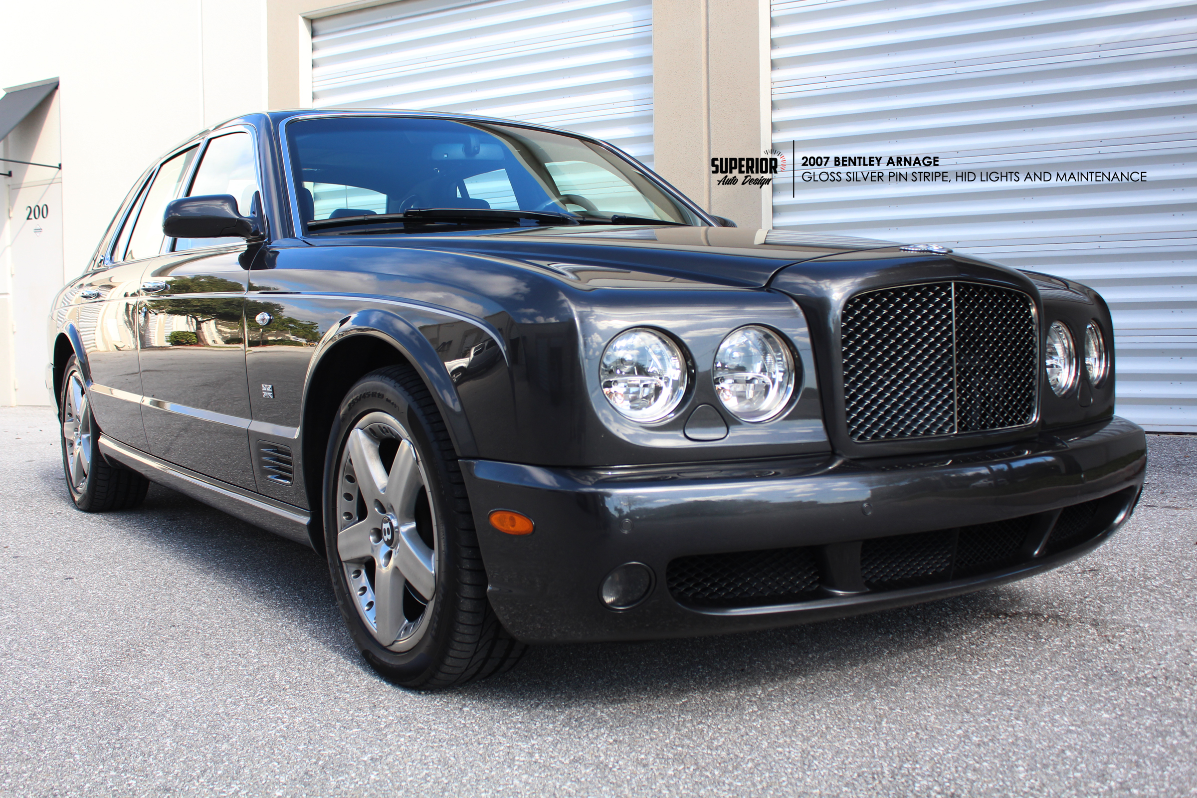 2007 bentley arnage maintenance repair and gloss silver side stripe bentley arnage car wrap superior auto design 4 vanachro Image collections