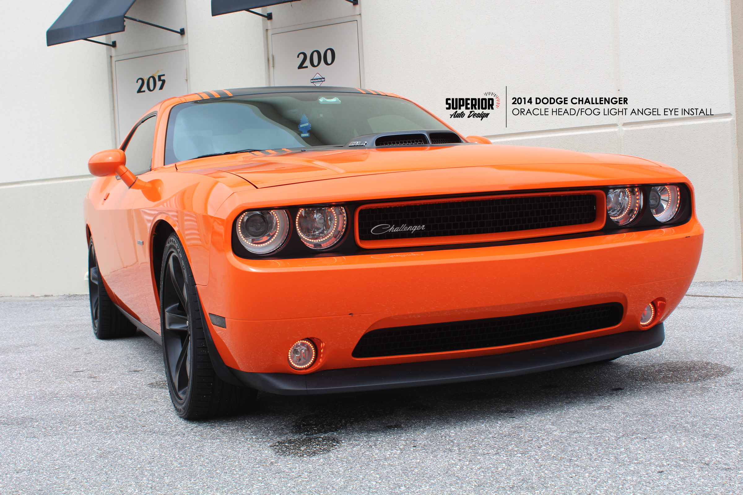 CHALLENGER ANGEL EYE INSTALL SUPERIOR AUTO DESIGN 1