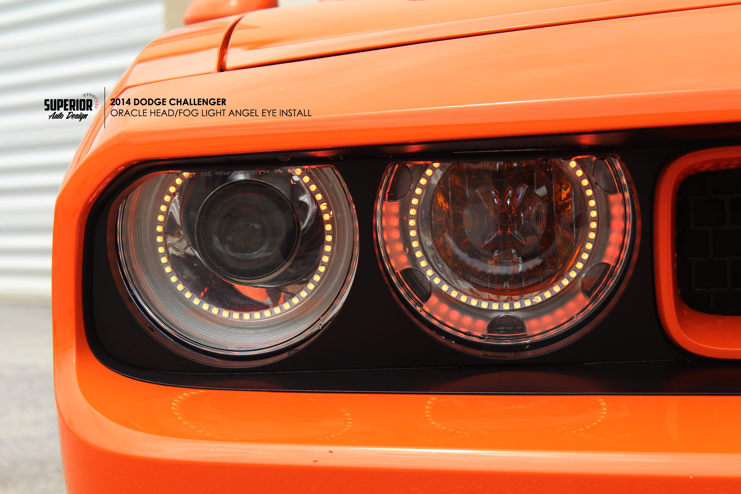 CHALLENGER ANGEL EYE INSTALL SUPERIOR AUTO DESIGN 2