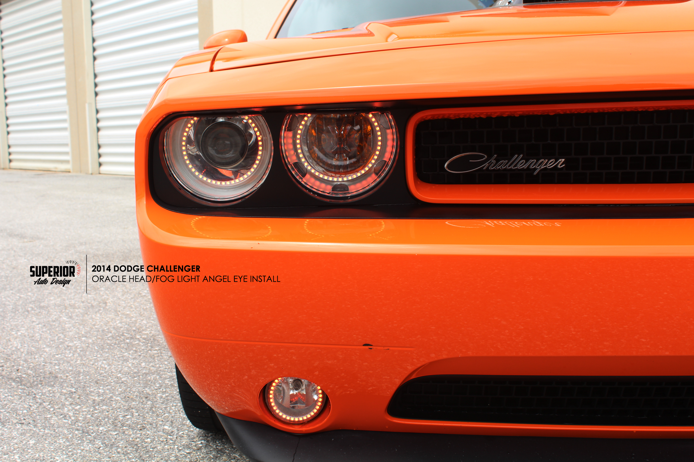 CHALLENGER ANGEL EYE INSTALL SUPERIOR AUTO DESIGN 3