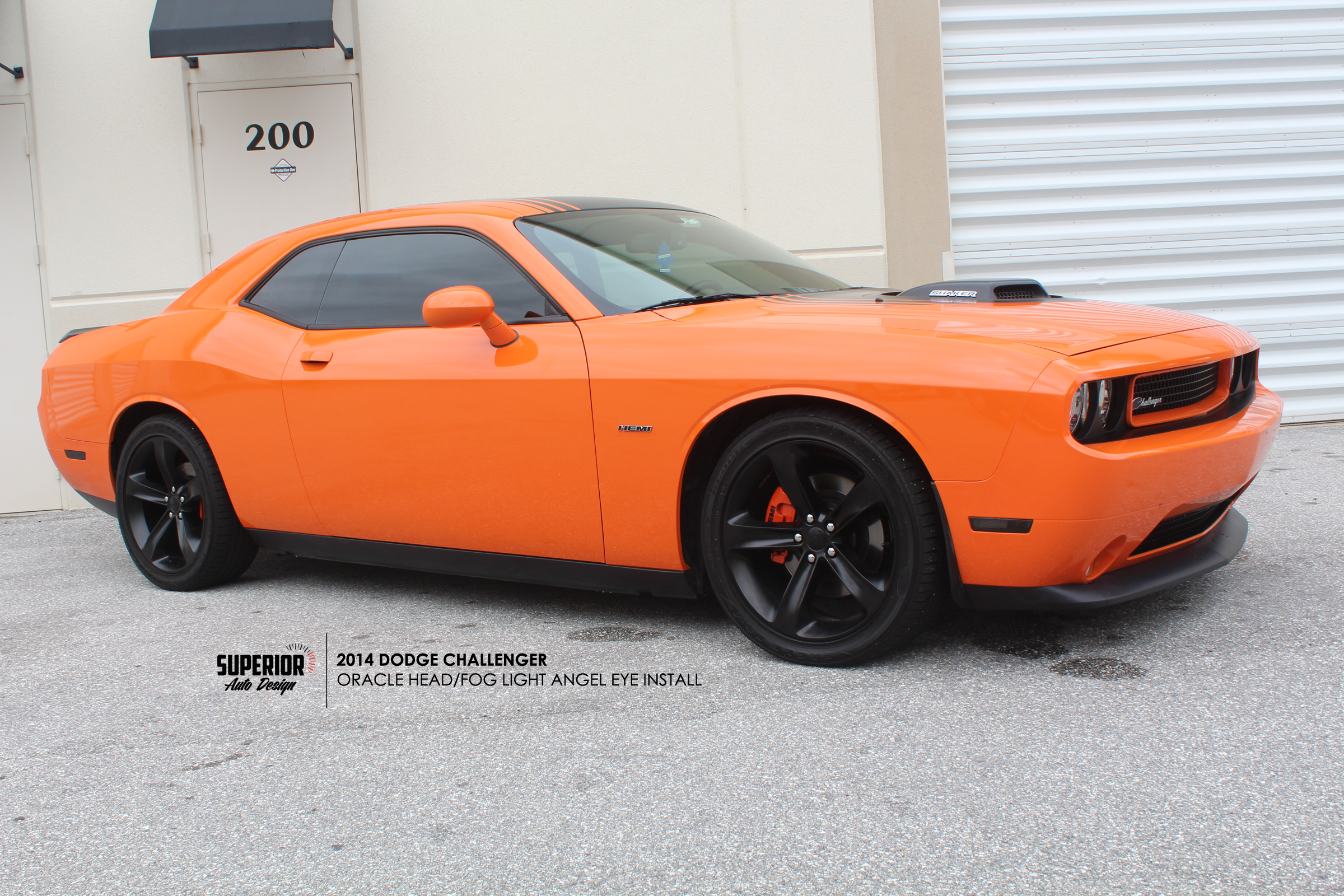 CHALLENGER ANGEL EYE INSTALL SUPERIOR AUTO DESIGN 5
