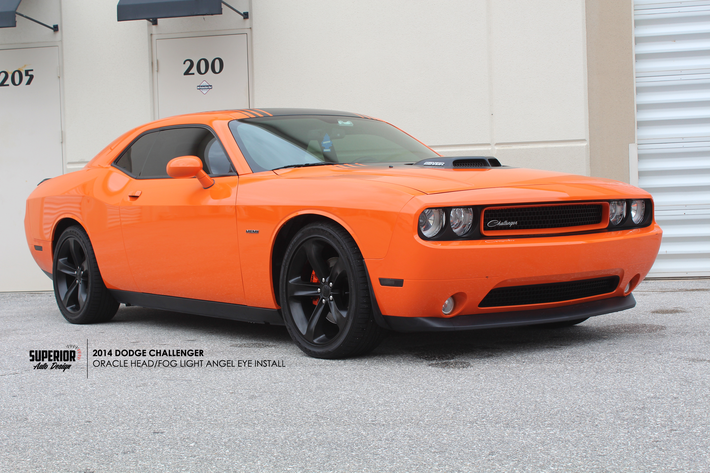 CHALLENGER ANGEL EYE INSTALL SUPERIOR AUTO DESIGN 6