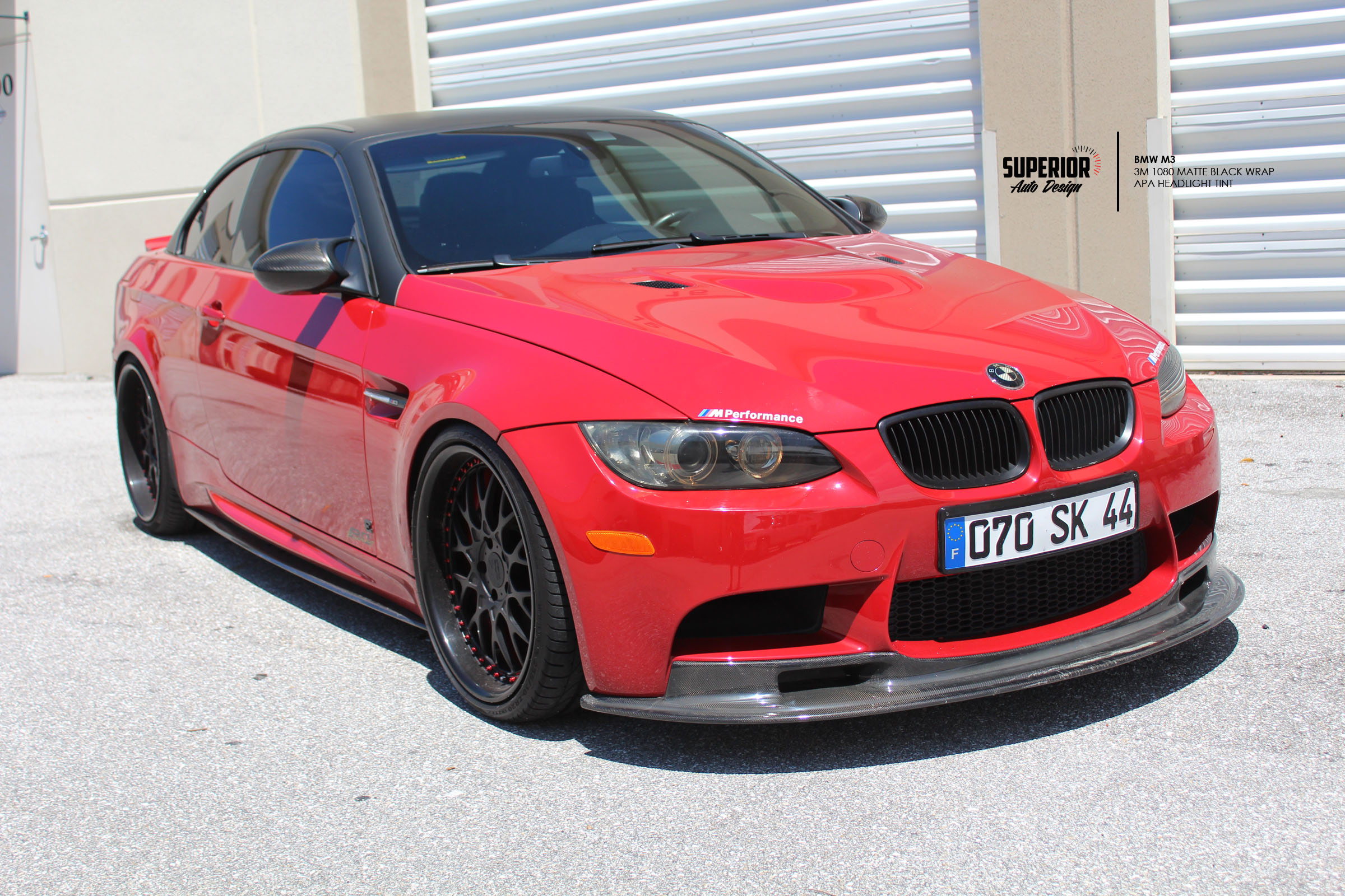 BMW M3 CAR WRAP MATTE BLACK SUPERIOR AUTO DESIGN 6