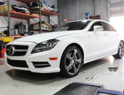 BLACK FRIDAY SPECIAL 3M 1080 MATTE WHITE CAR WRAP MERCEDES BENZ CLS 550