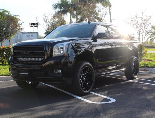 2016 GMC YUKON XL WITH 4″ FTS LIFT KIT 22″ HOSTILE WHEELS 33″ NITTO TERRA GRAPPLERS AND VISION-X 30″ LIGHT BAR