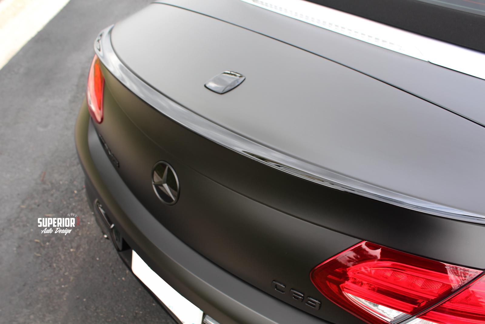 c63 satin black wrap superior auto design 12