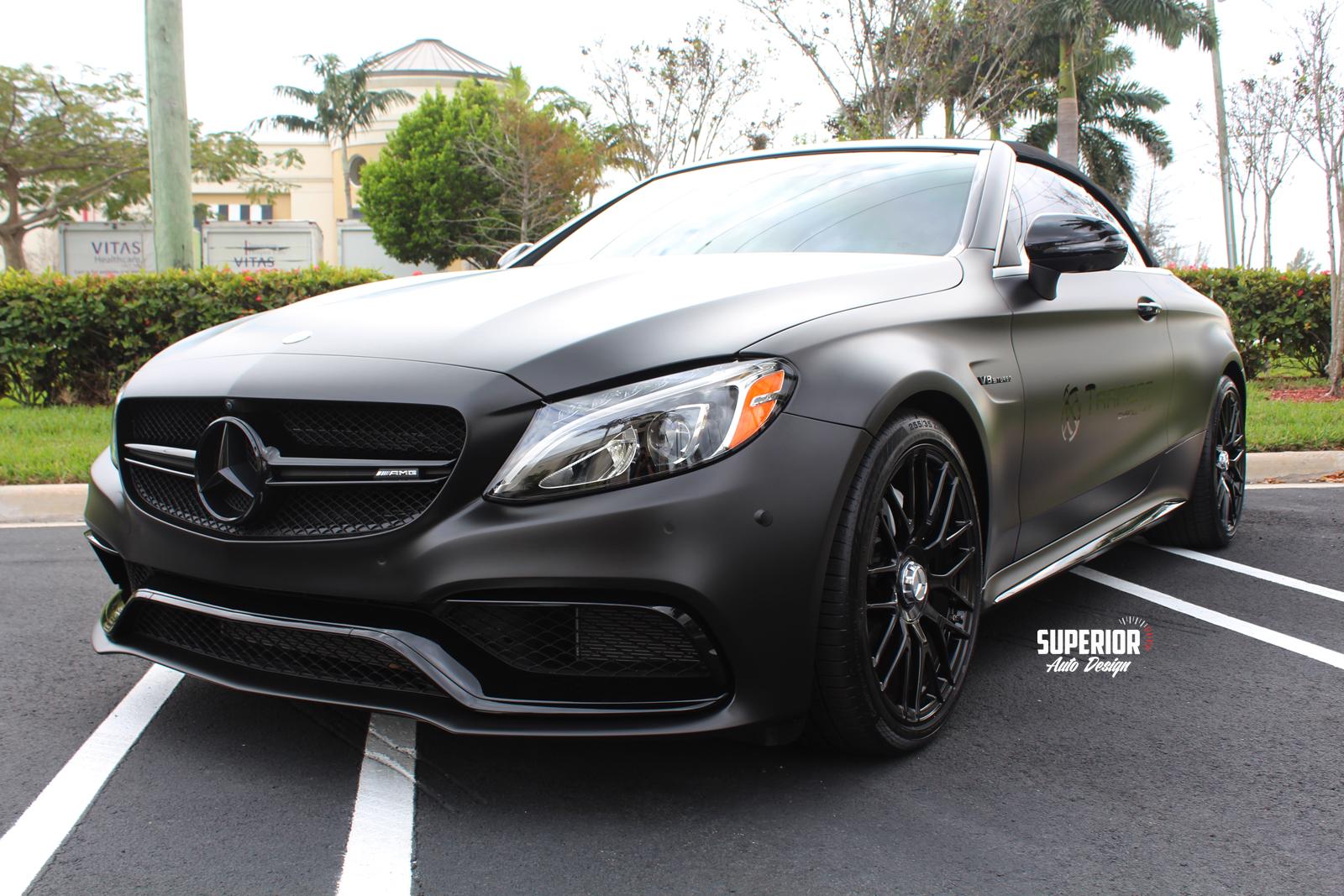 c63 satin black wrap superior auto design 8