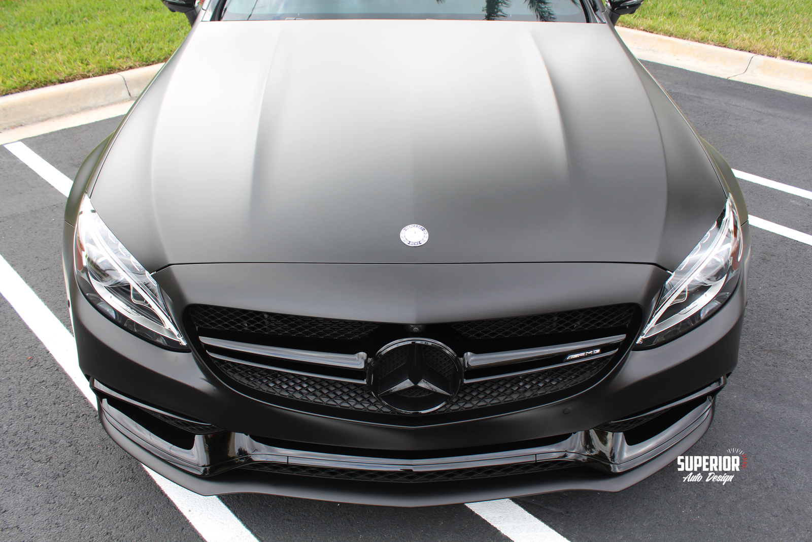 c63 satin black wrap superior auto design 9