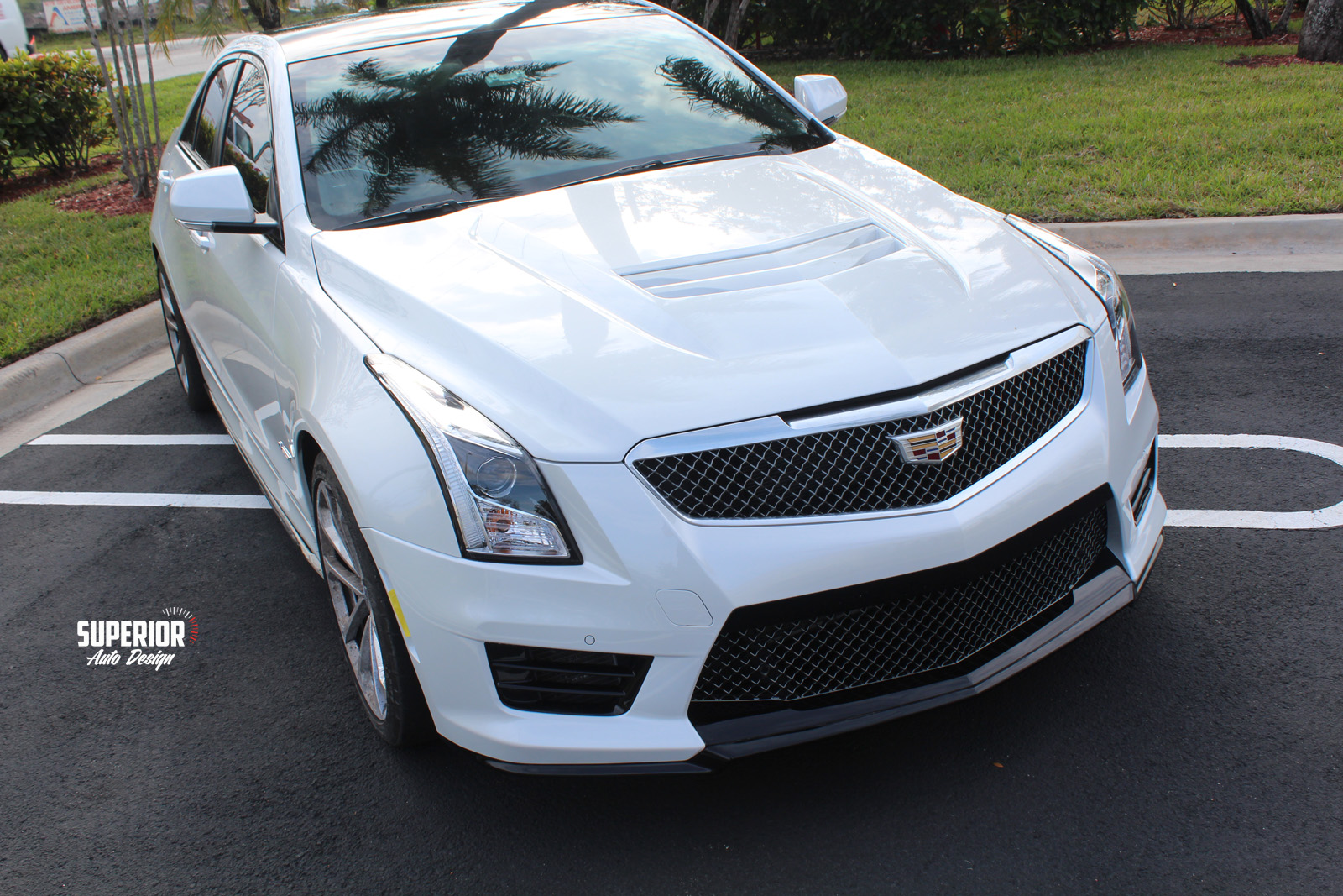cadillac ats v black car wrap superior auto design 1