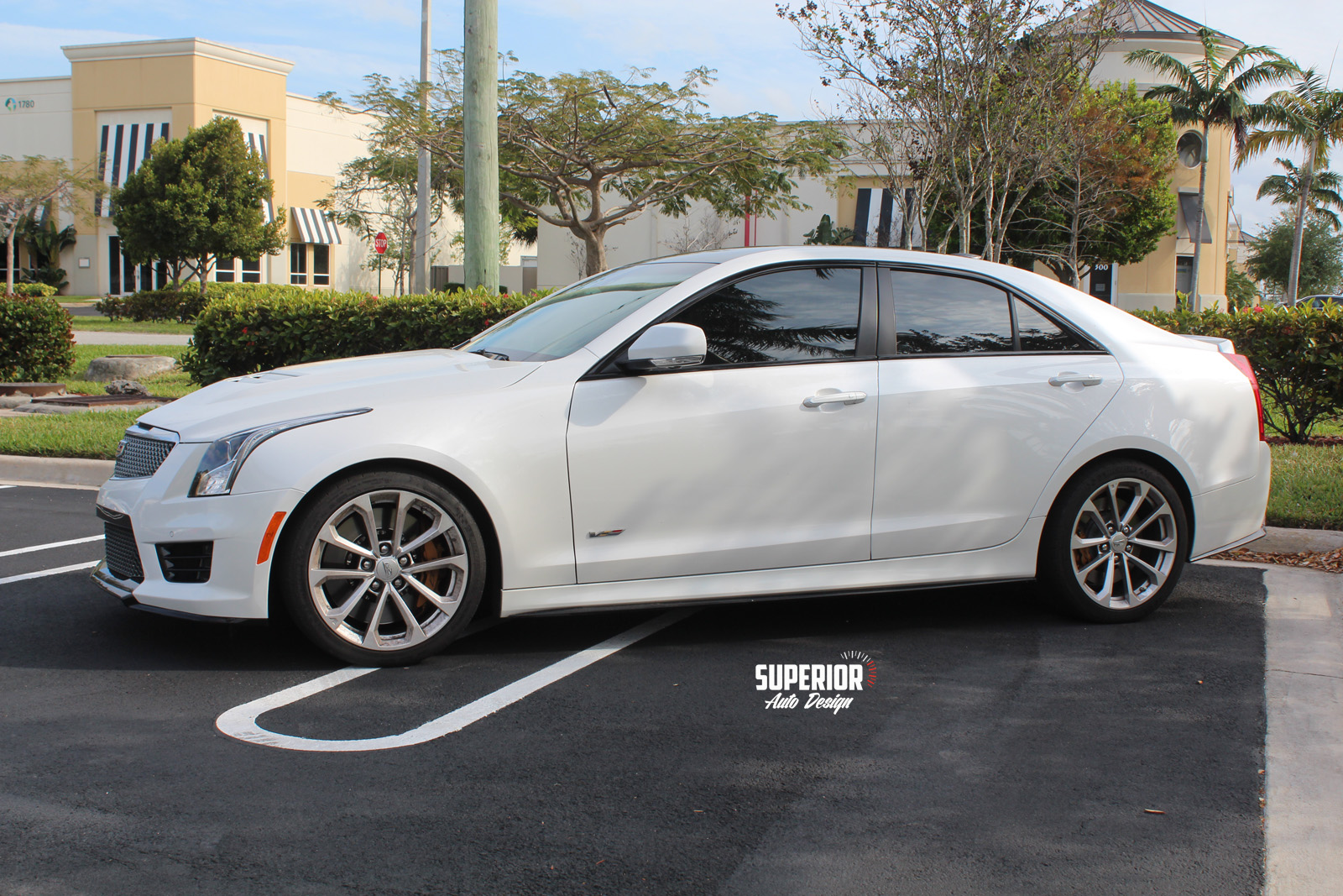 cadillac ats v black car wrap superior auto design 4