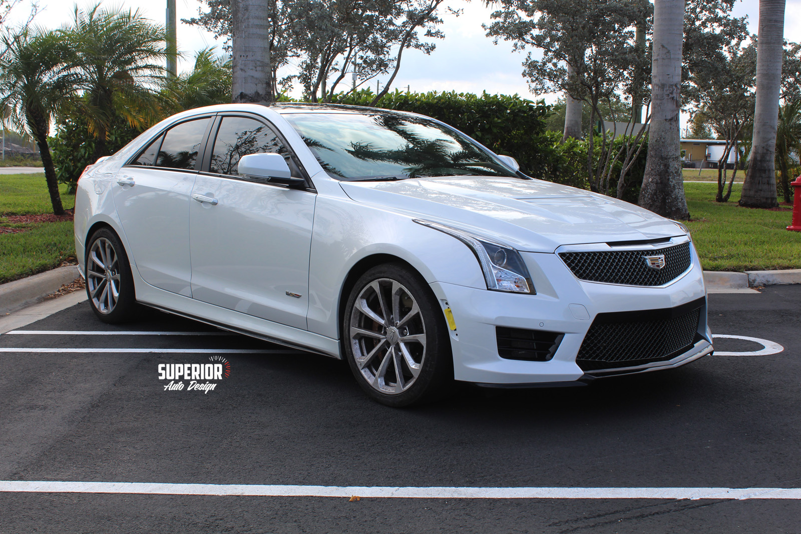 cadillac ats v black car wrap superior auto design 5