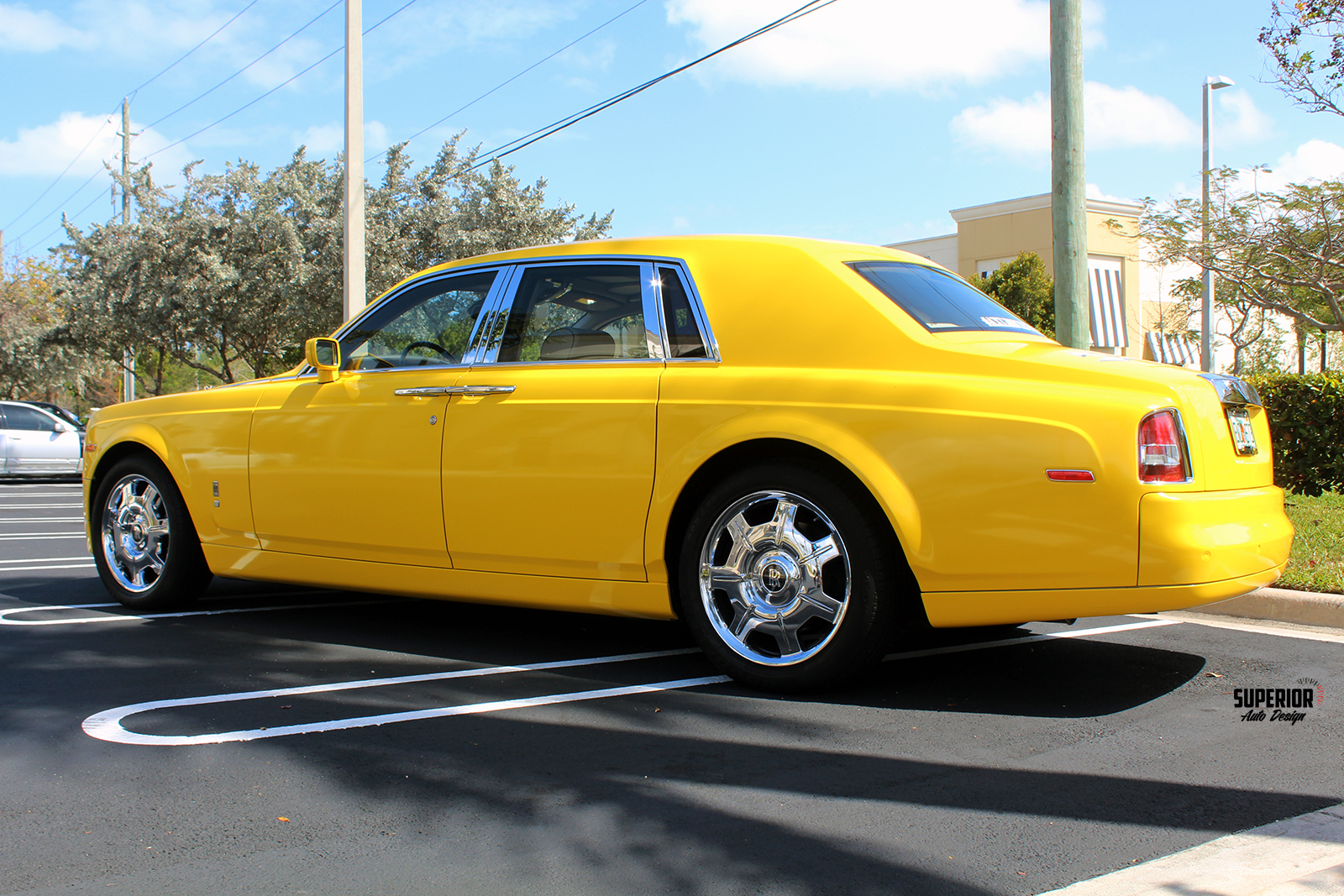 rolls royce phantom car wrap yellow superior auto design 15