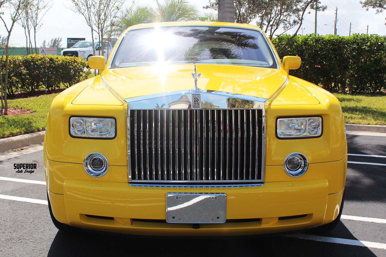 rolls royce phantom car wrap yellow superior auto design 4