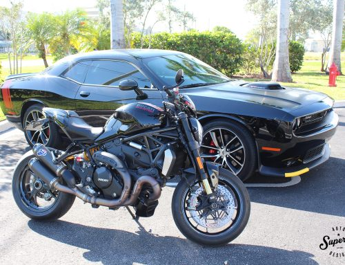 Long time customer is back for some more! Matching Challenger and Ducati