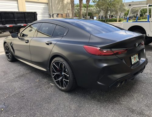 BMW M8 Competition Satin Black Wrap
